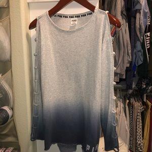 PINK sweatshirt with cute sleeves size medium